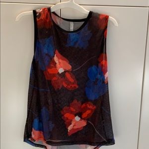 Floral sleeveless tank